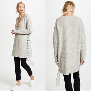Free People Heart It Lace Up Tunic Sweater Dress S